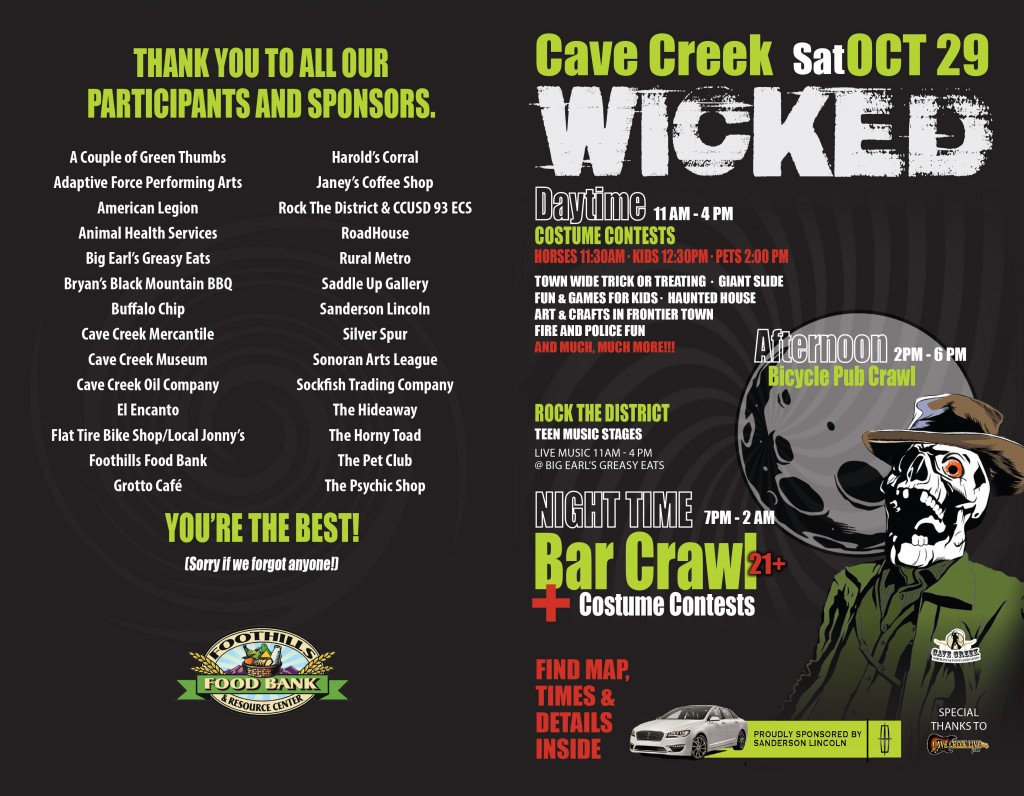 Cave Creek Wicked Folded Flyer